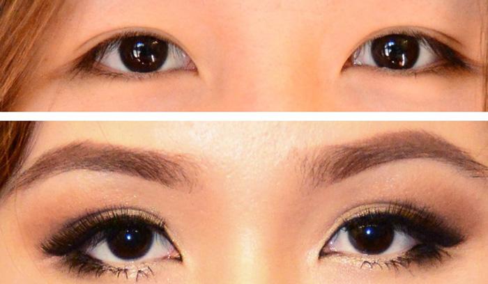 آموزش مدل آرایش چشم پف دار