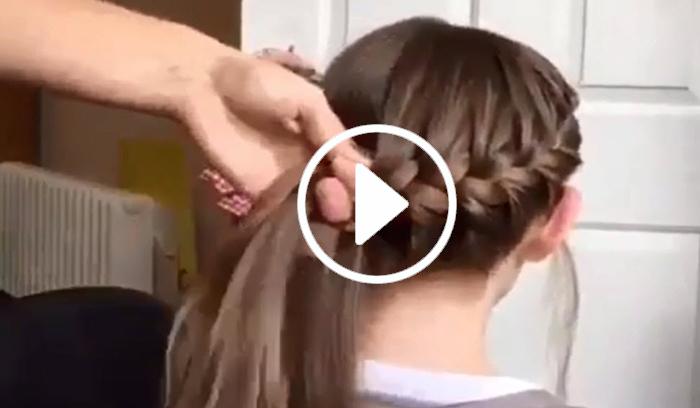 ویدیو آموزش بافت مو دخترانه