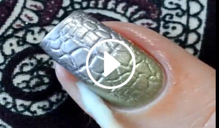 ویدیو طراحی لاک ناخن شیک