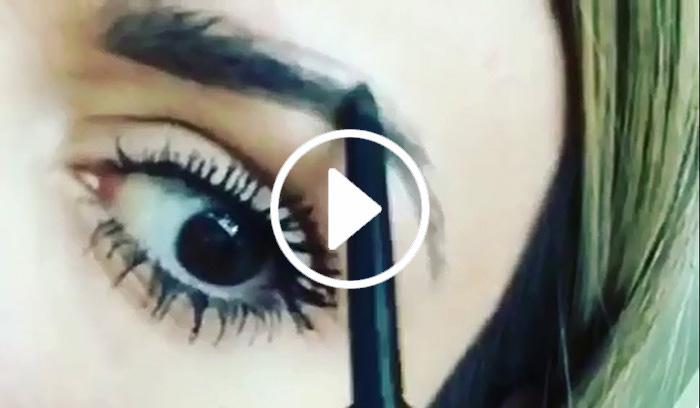 ویدیو آموزش کشیدن ابرو با مداد