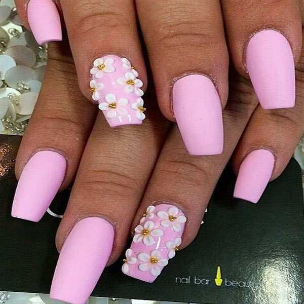 Spring-Nail-Colors-Baby-Pink-Tip-Acrylic-Nails