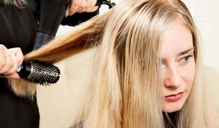راه های صاف کردن موهای فر
