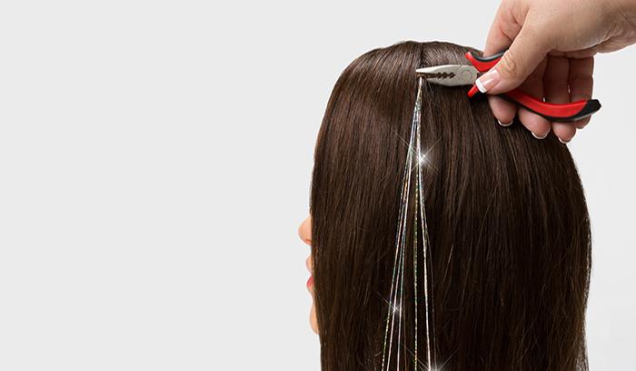 آموزش اکستنشن مو با لمه