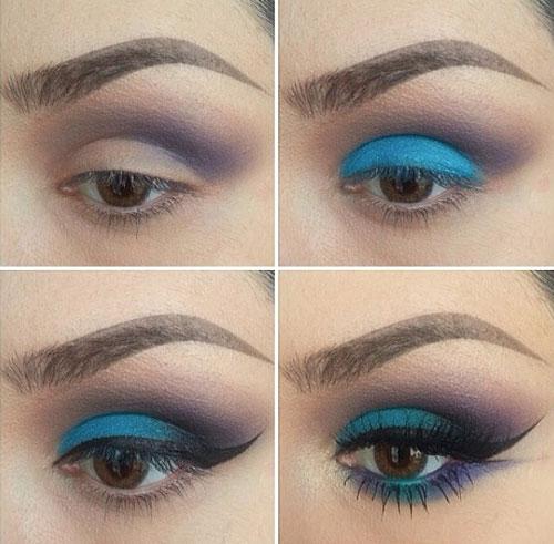 آموزش آرایش چشم تابستانی