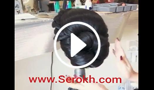 آموزش شینیون عروسکی در آرایشگاه