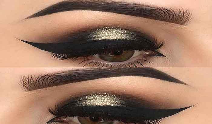 آموزش آرایش چشم طلایی