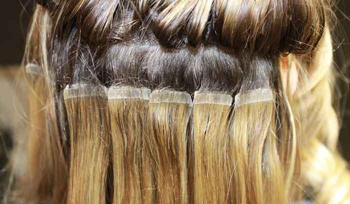 آشنایی با اکستنشن مو با چسب کراتین