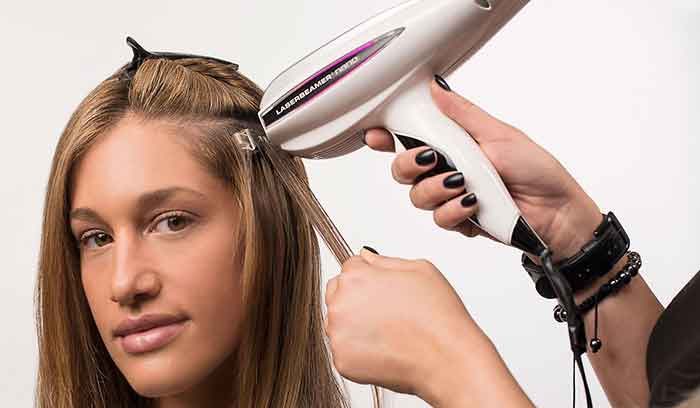 آموزش اکستنشن مو با لیزر