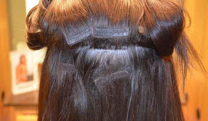 آموزش اکستنشن مو با دوخت