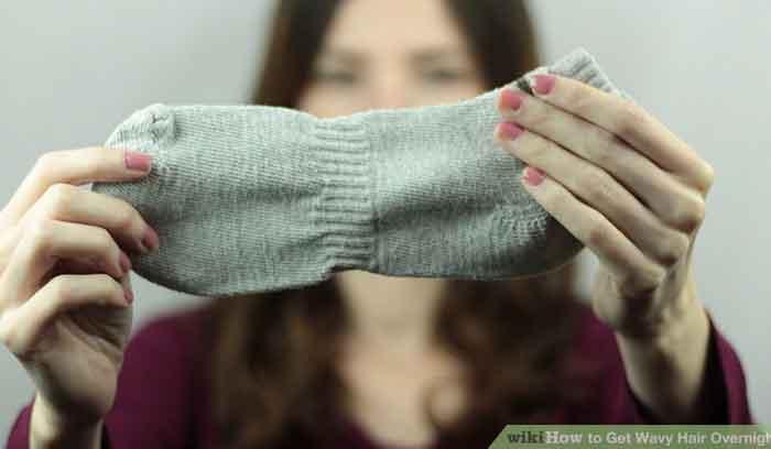آموزش فرکردن مو با جوراب
