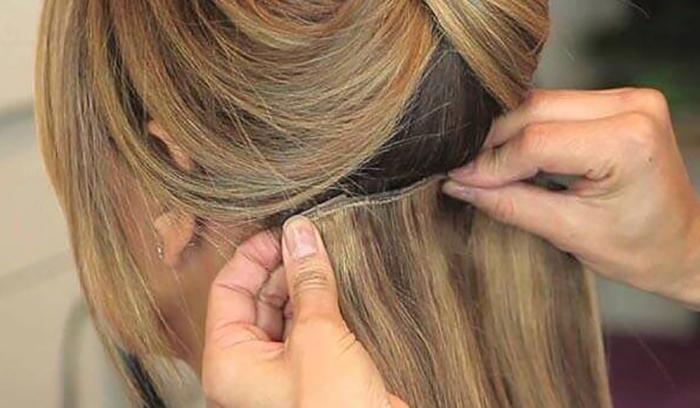 ریزش مو با اکستنشن