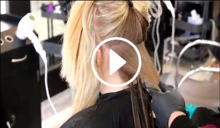 آموزش کراتینه برزیلی مو