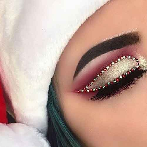 بهترین مدل چشم آرایش کریسمس