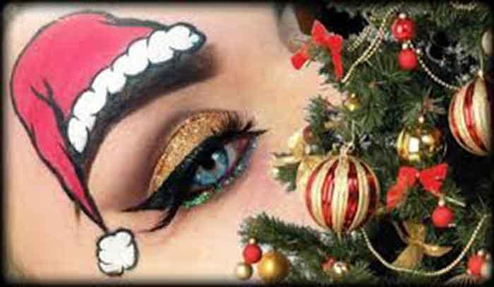 بهترین آرایش چشم کریسمس