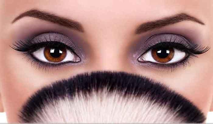 آموزش آرایش چشم قهوه ای
