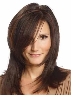 موی بلند قهوه ای