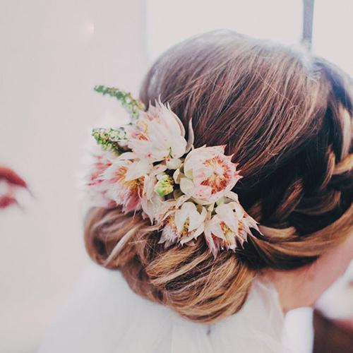 مدل مو با گل های طبیعی